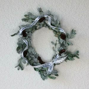 Holiday Wreath Preserved Dried Snow Boxwood 7-9""